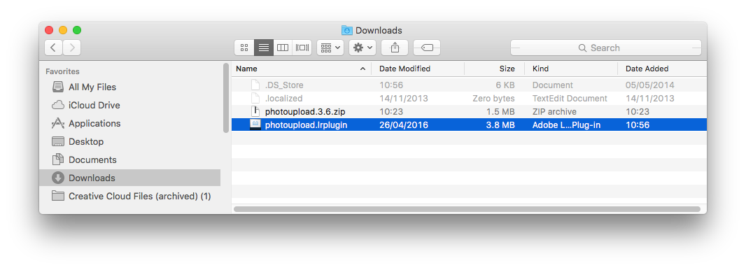 Installation - Plug-in Download Folder (Mac)