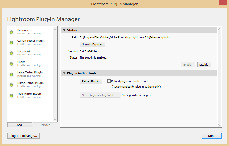 Installation - Plug-in Manager - Add
