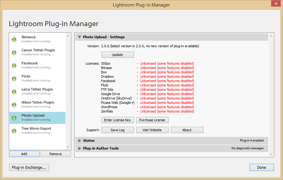 Installation - Plug-in Manager - Photo Upload Plug-in