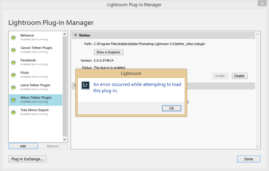 Support - Plug-in Manager - Incorrect folder